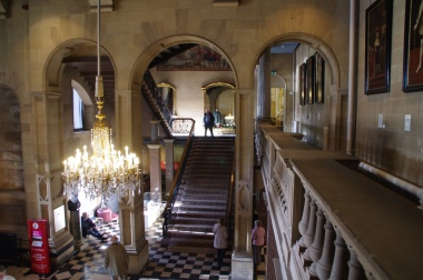 Bowes Museum: Interior shot of a grand staircase