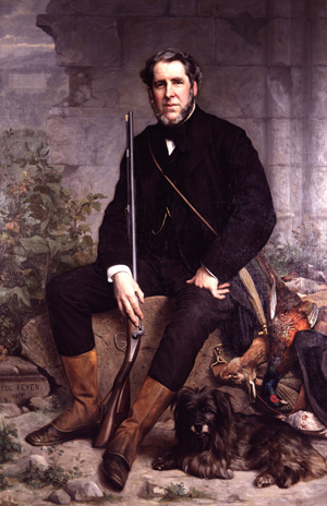 John Bowes: A portrait from the 19th century.